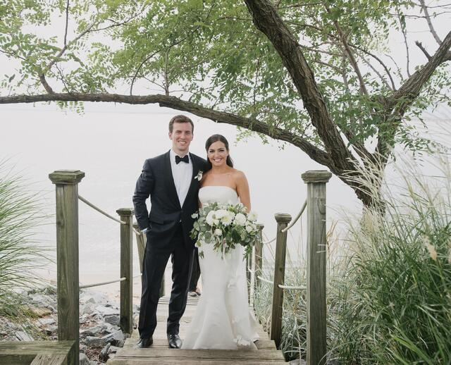 A Sophisticated Waterfront Wedding With Natural Flair At The Chesapeake Bay Beach Club In Stevensville Maryland
