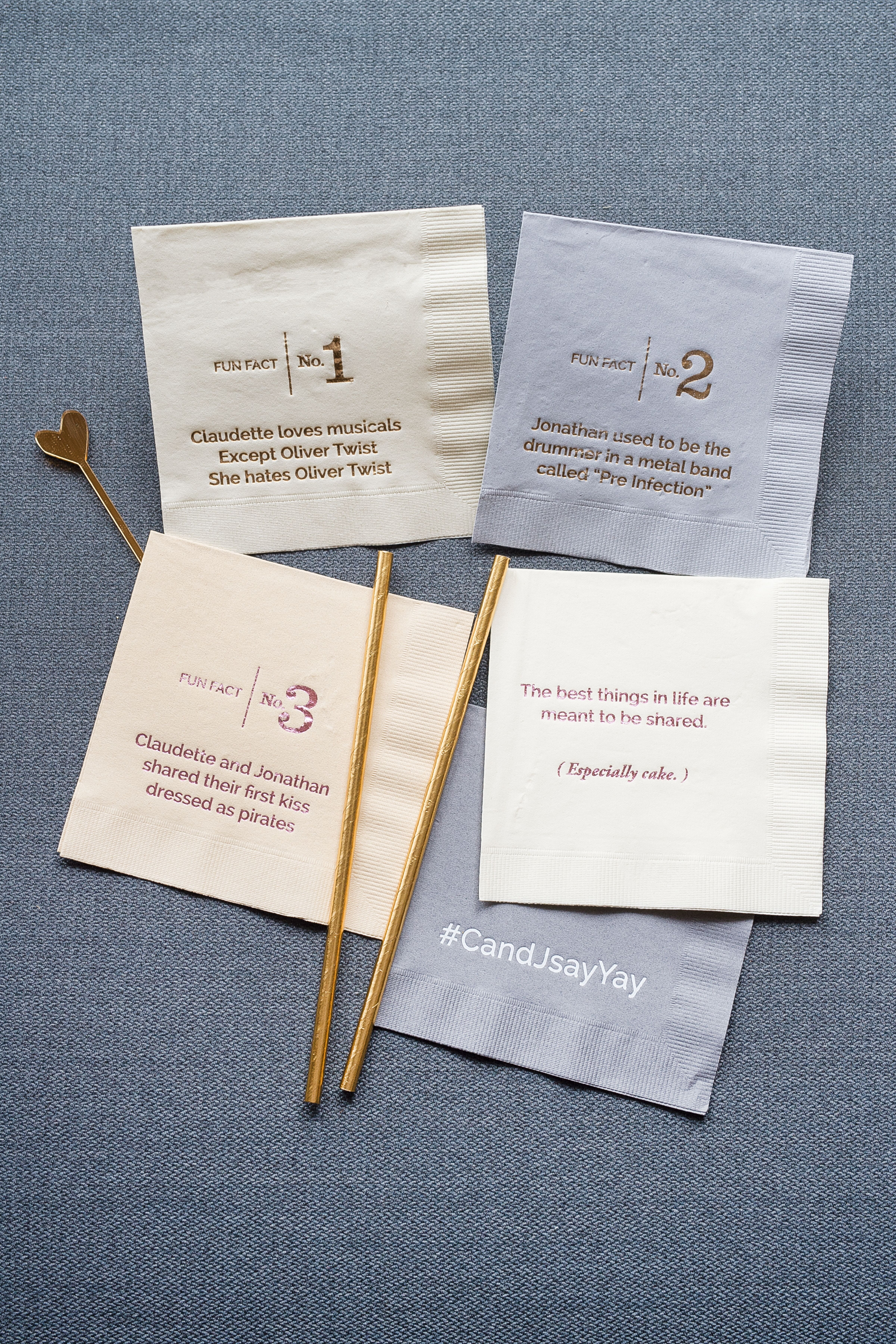 Personalized Trivia Cocktail Napkins