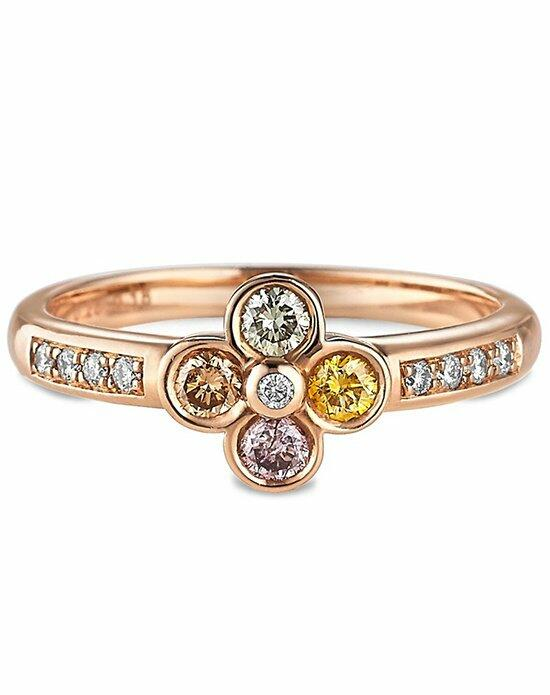 Ritani Fancy Colored Diamond Flower Engagement Ring in 18kt Rose Gold (0.47 CTW) Engagement Ring photo