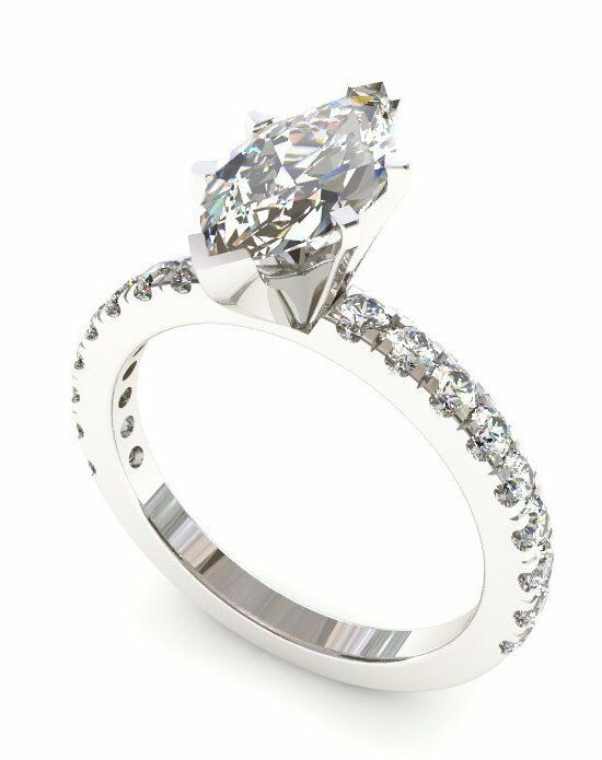 Enchanted Diamonds Pave‎ Petite Marquise PV4-4W-M Engagement Ring photo