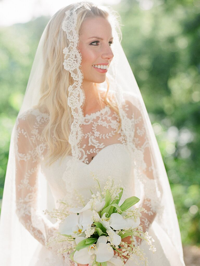 20 wedding hairstyles for long hair with veils wedding hairstyles for long hair styled with veils junglespirit Images