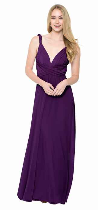purple bridesmaid dress by Twist