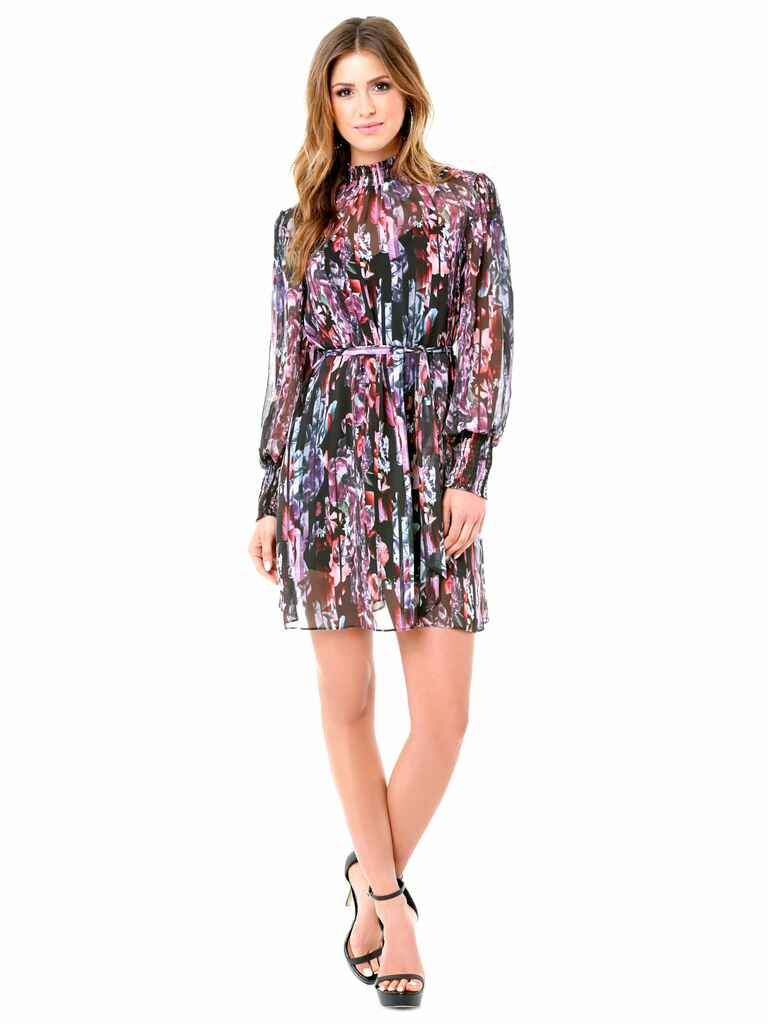 What to wear to a fall wedding 60 dresses for guests for Bebe dresses wedding guest