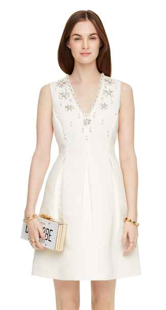 Kate Spade Embellished Structured Dress