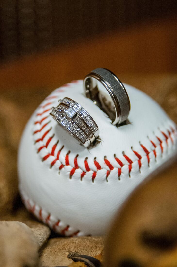 baseball wedding ring a baseball stadium wedding at target field in 1509