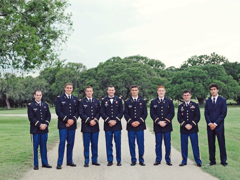 Military Wedding Attire