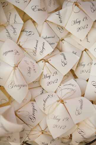 Cootie catcher ceremony program
