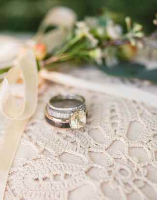 Wedding bands still life