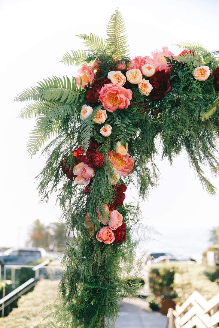 Floral Wedding Arch With Garden Roses