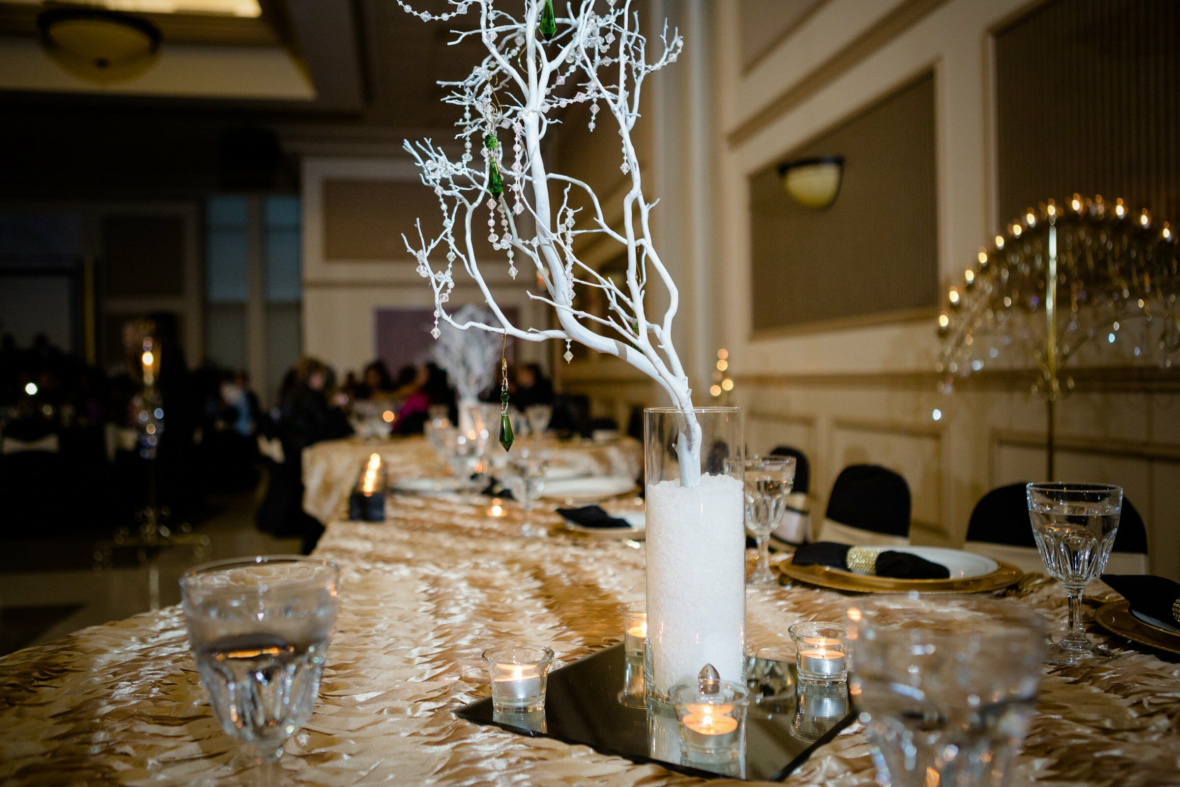 White branch centerpieces