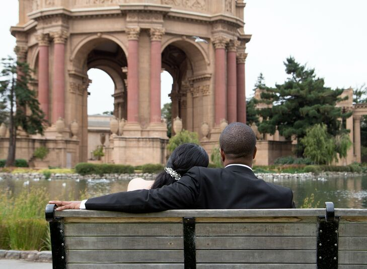 After stopping by the Golden Gate Bridge, Cielito and Bethelwel took photos by the historical Palace of Fine Arts.