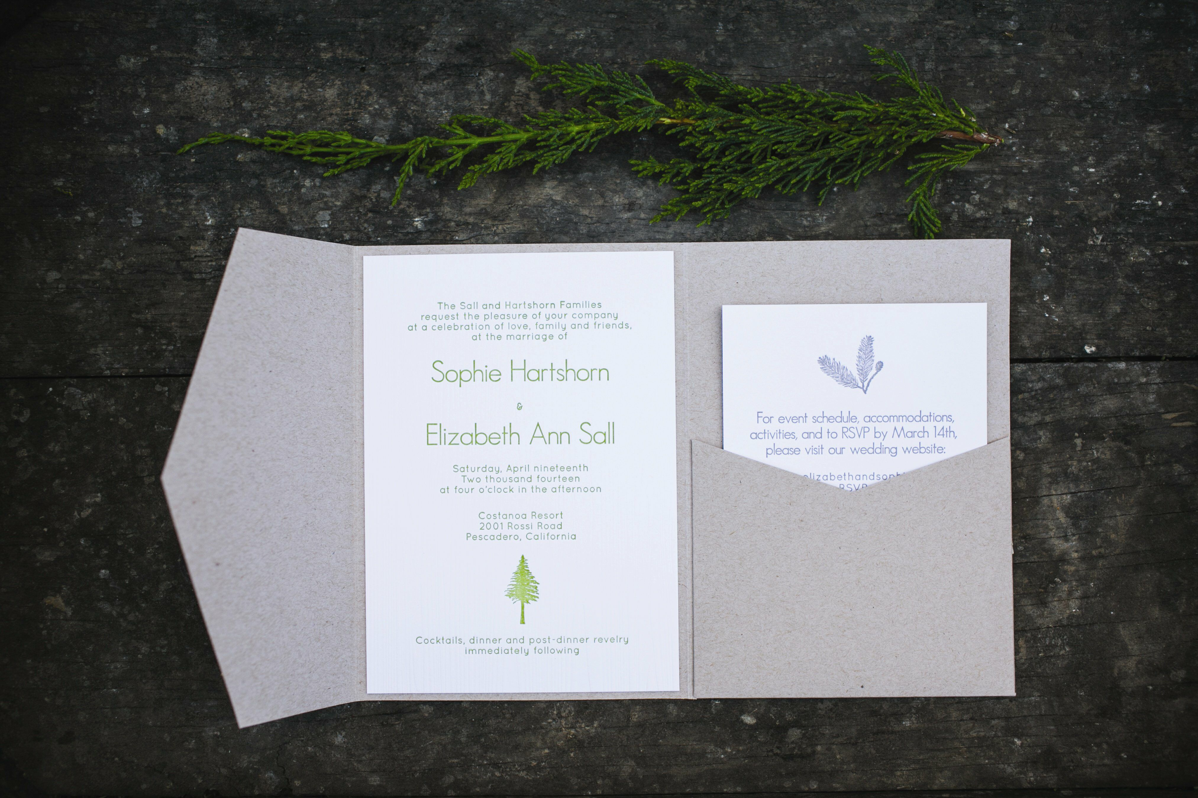 Folding Invitation Suite