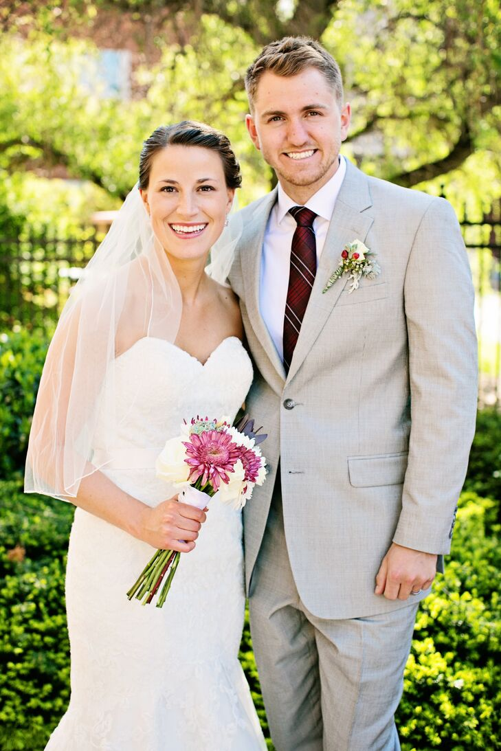 A Maroon and White Wedding at Carnegie Hotel in Johnson City, Tennessee