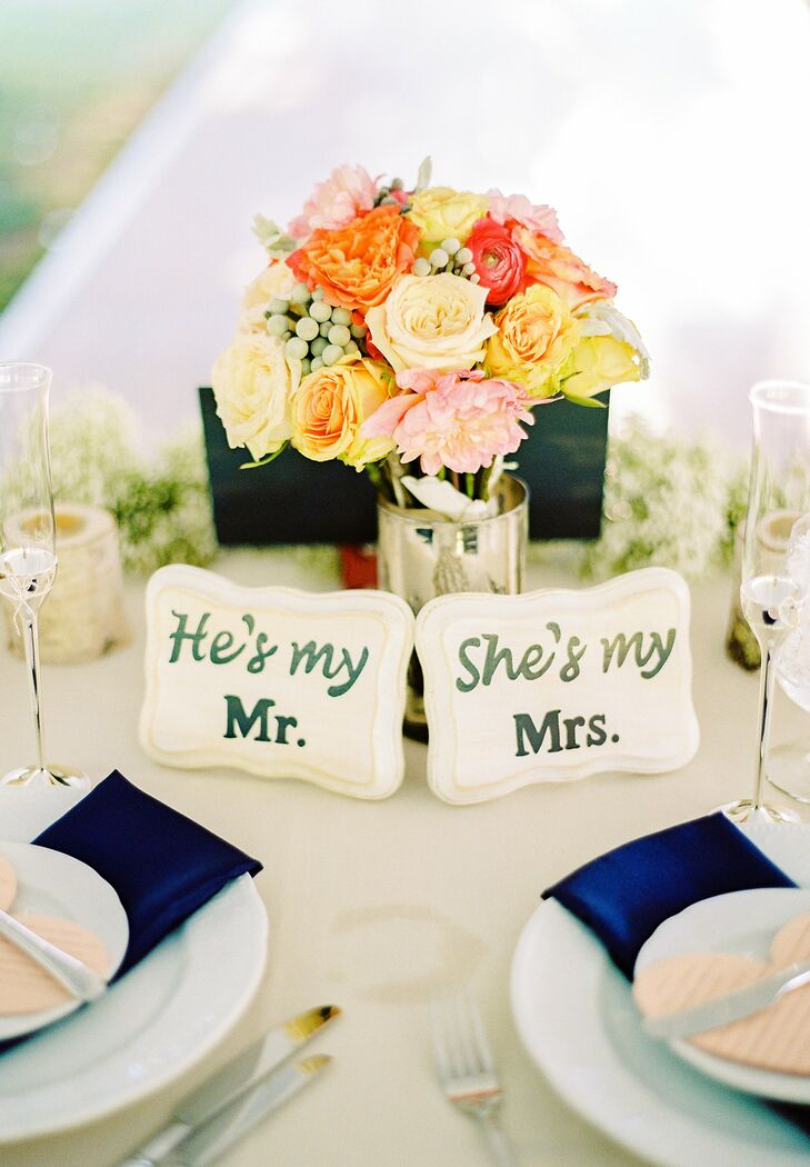 Bright Rose Centerpieces