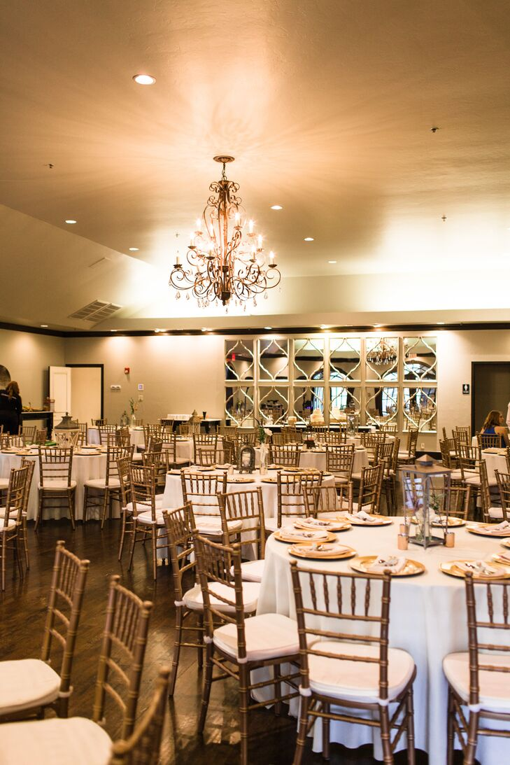 White And Gold Wedding Reception At Coles Garden