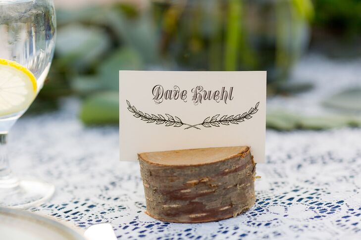 Rustic Wooden Place Card Holders