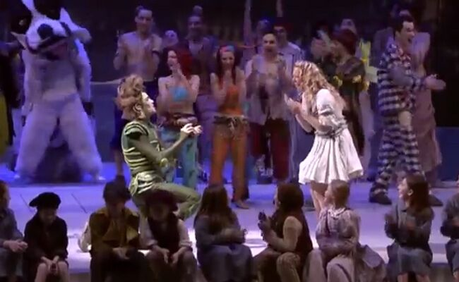 Peter Pan Proposes to Wendy