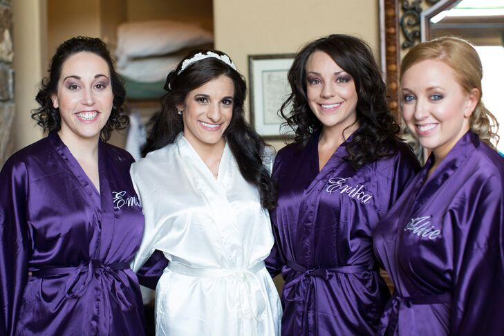 Purple Personalized Bridesmaid Bathrobes