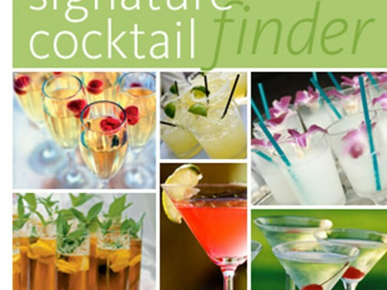 collage of signature cocktails