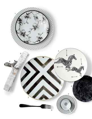 Black and white mixed china