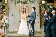 This wedding will give you butterflies—literally! At their wedding ceremony, Aja Smith (31 and a marketing manager) and Colin Friday (30 and a mortgag