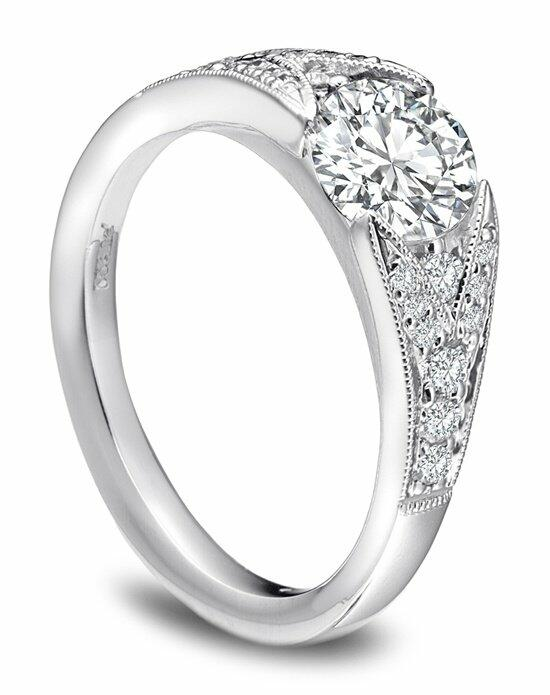 Platinum Must Haves Sholdt Split Pave Diamond and Platinum Ring Engagement Ring photo