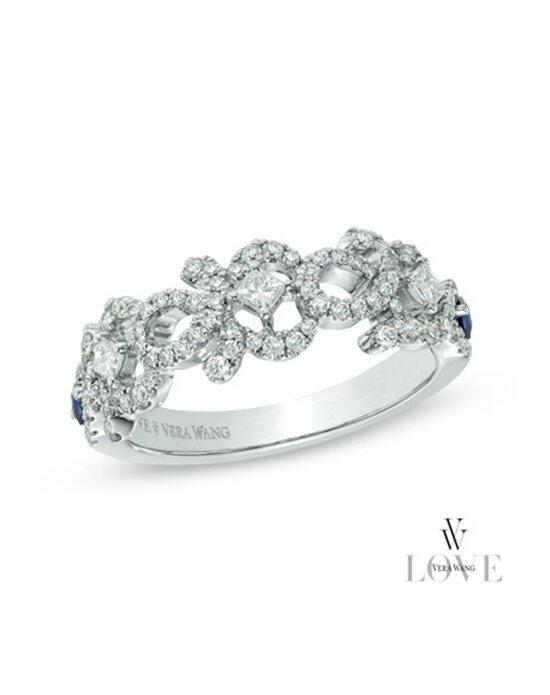 Vera Wang LOVE at Zales Vera Wang LOVE Collection 1/2 CT. T.W. Diamond and Blue Sapphire Curlique Band in 14K White Gold  19959632 Engagement Ring photo