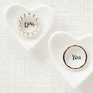 heart shaped wedding ring dishes
