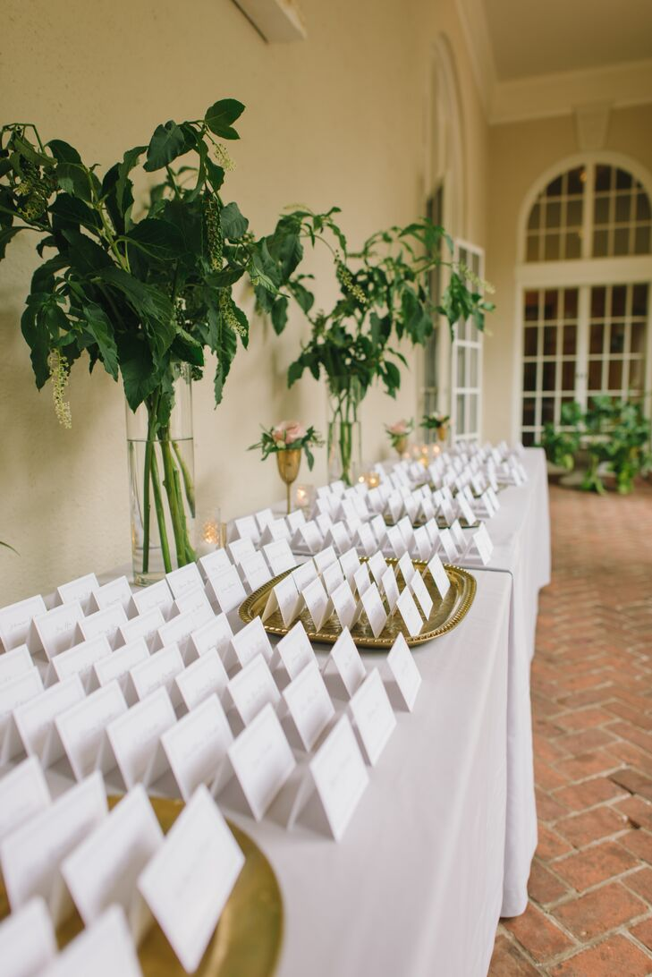 Etsy's Hen & Co. created all the escort cards for the reception at Montalvo Arts Center in Saratoga, California.