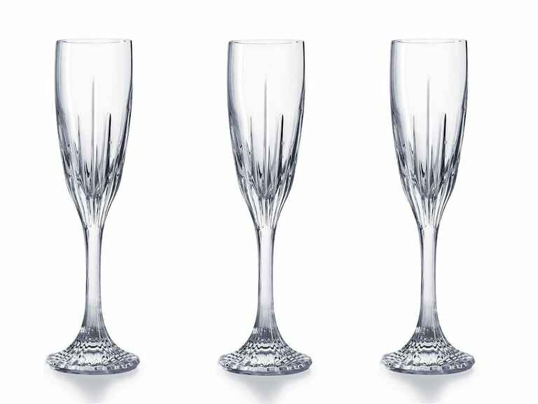 Baccarat crystal champagne flutes