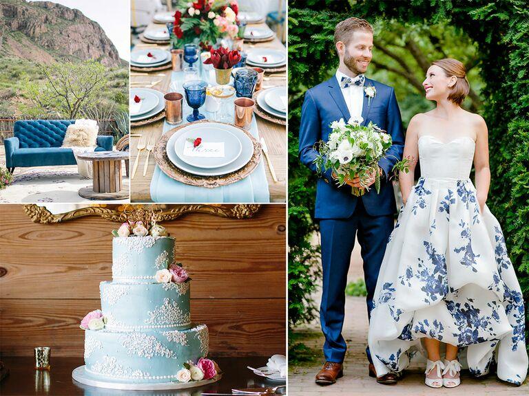 Wedding Décor Ideas in Shades of Blue