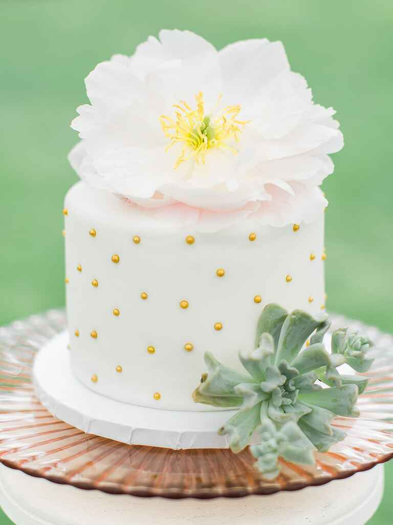pictures of single layer wedding cakes single tier wedding cakes 18435