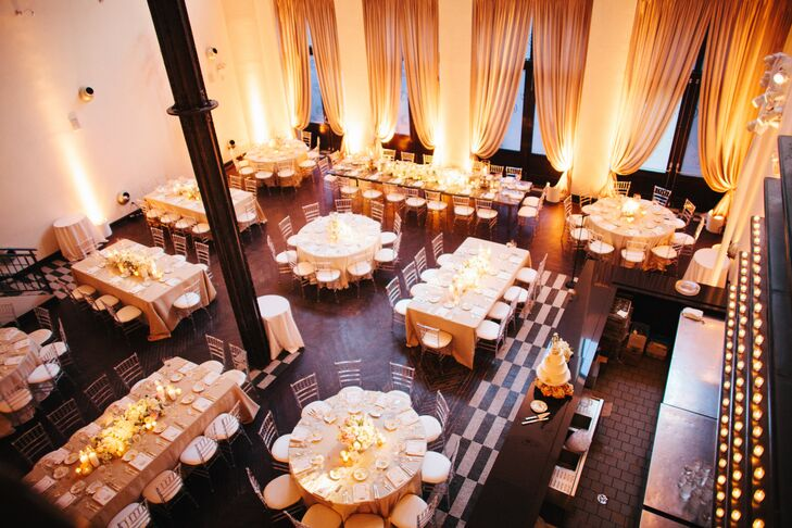 Modern Glam Wedding Reception