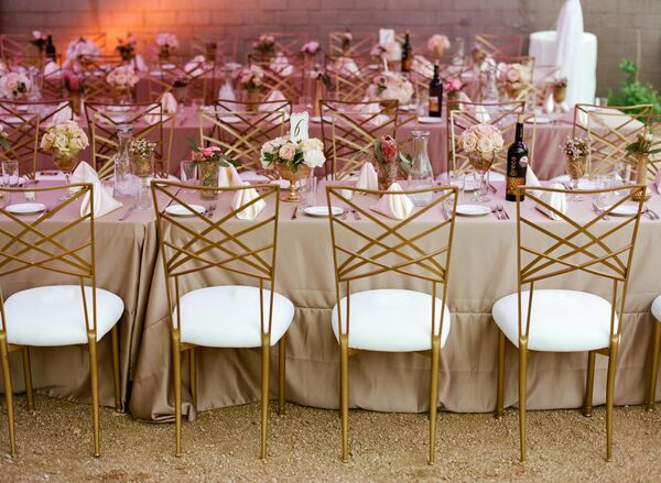 Gold Ceremony Chairs and Tables