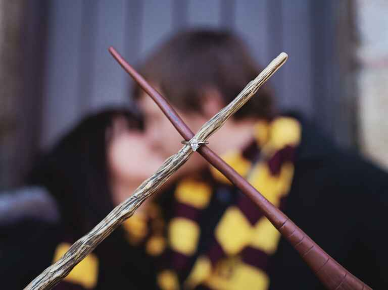 Harry Potter Wands Engagement Photo