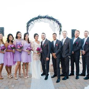 real weddings first kiss at venue at the grove in phoenix arizona photo