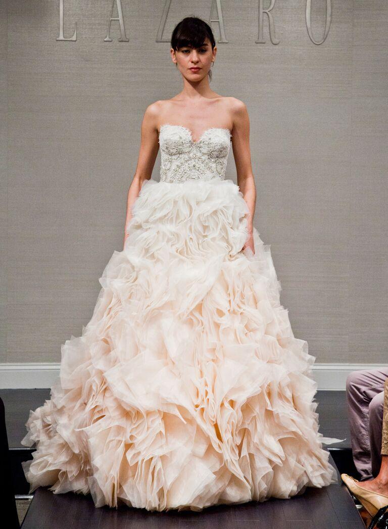 Unique Wedding Gowns 80 Stunning Ombre Lazaro wedding dress