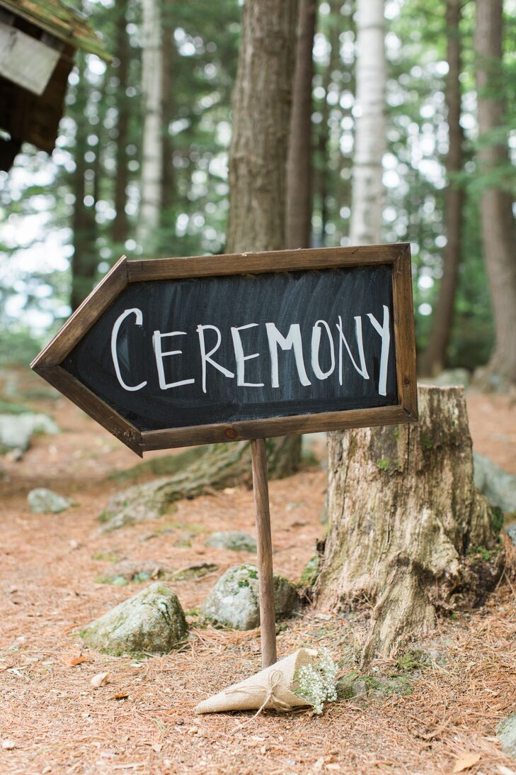 Chalkboard Arrow Ceremony Sign