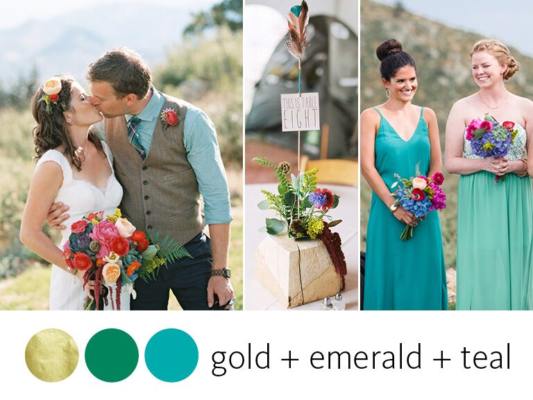 Color Crush Gold Emerald And Teal