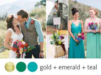 Teal and emerald wedding color scheme