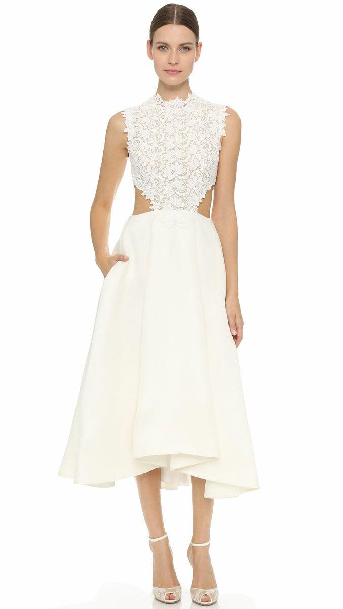 Short Strapless Beach Wedding Dresses
