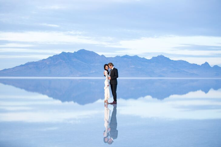 Heather and Ethen on Bonneville Salt Flats