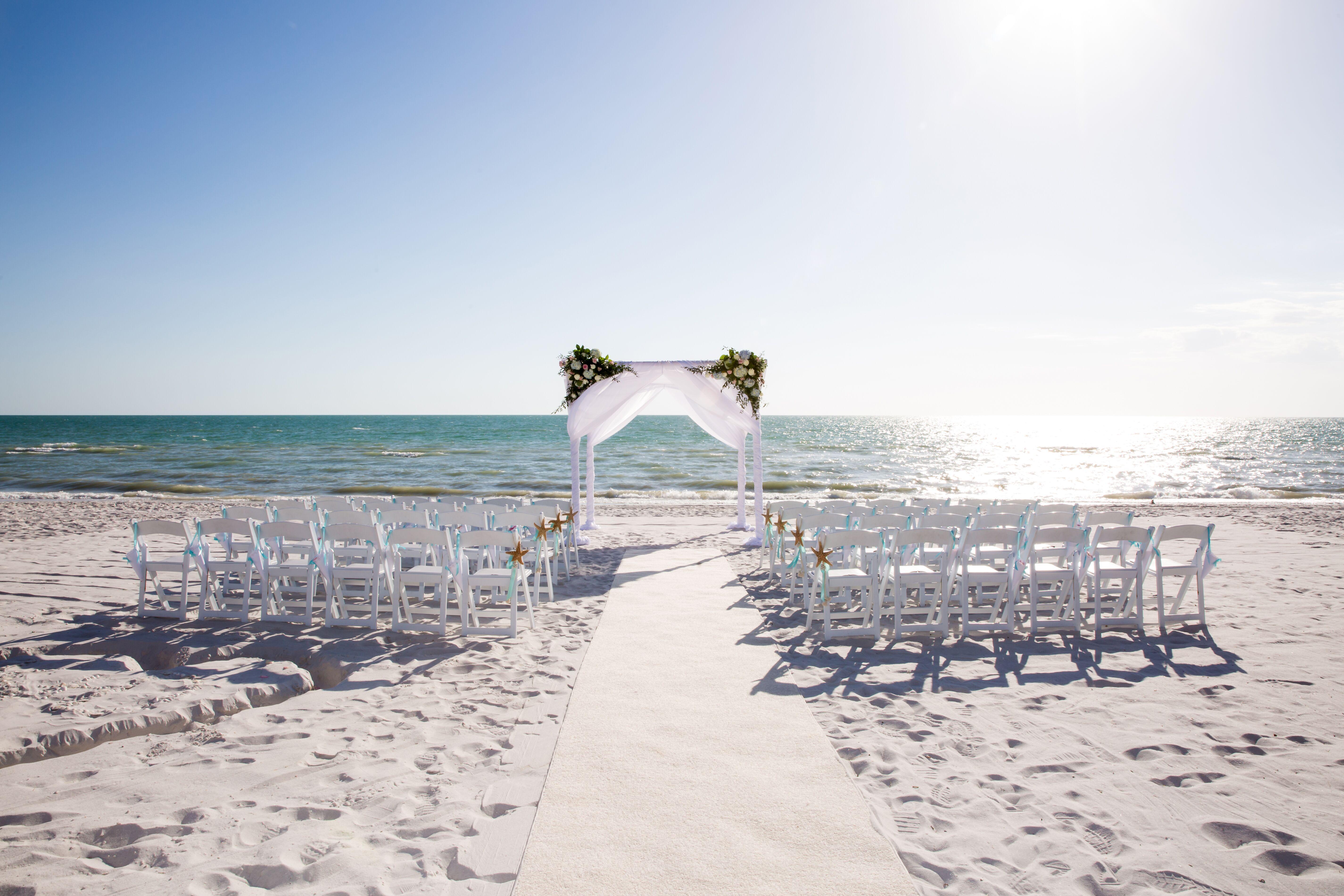 White Beach Ceremony At The Ritz-Carlton, Naples