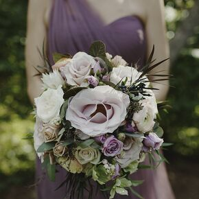Romantic Purple Wedding Flower Arrangements