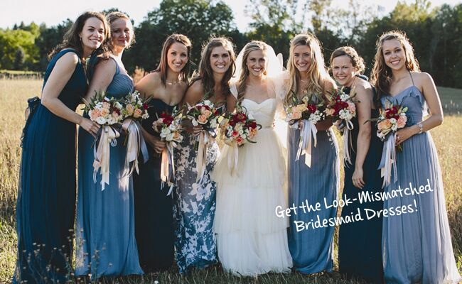 mismatched bridesmaid dresses are the new hot bridal party