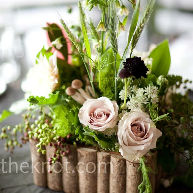 Forest Themed Floral Centerpieces