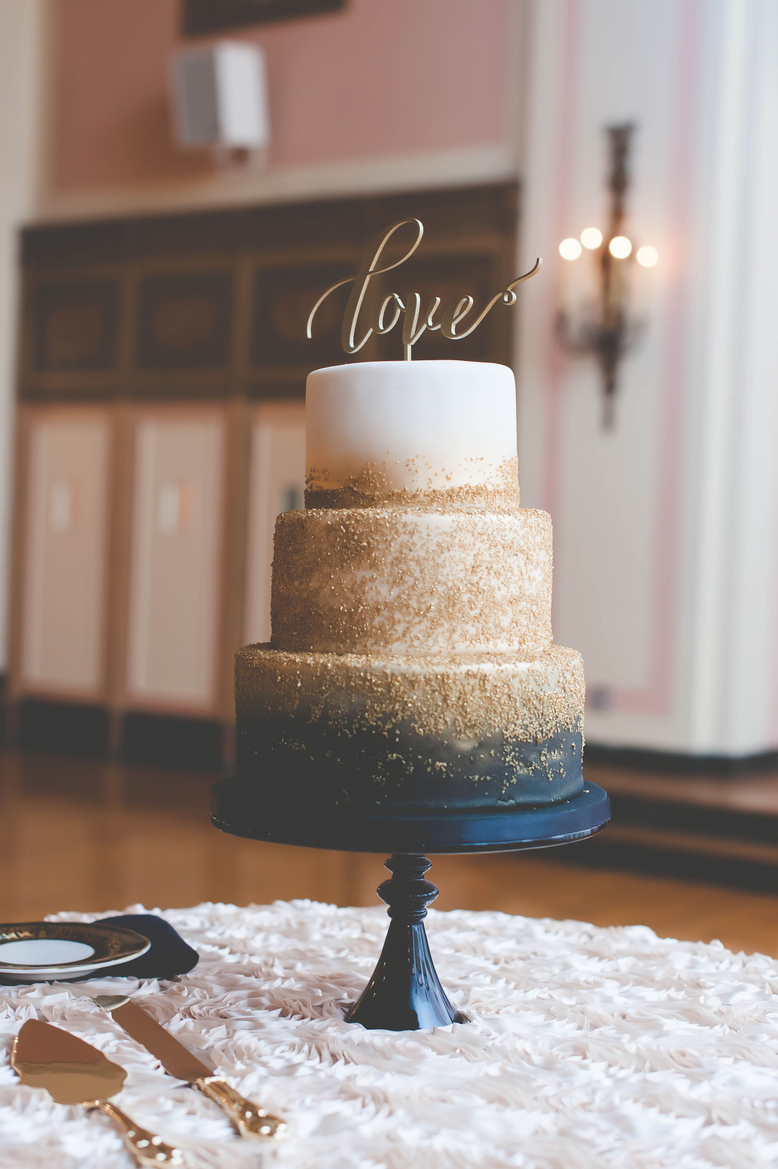 navy blue gold and white wedding cake navy and gold zingerman s wedding cake 17768
