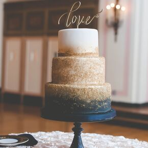 Navy And Gold Zingerman S Wedding Cake