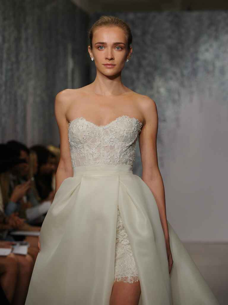 Monique Lhuillier two-in-one wedding dress
