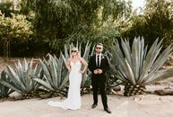 Mira Kostishak did not have to look far for wedding inspiration. Her chic, bohemian outdoor wedding to Nate Bourque at Leo Carrillo Ranch in Carlsbad,